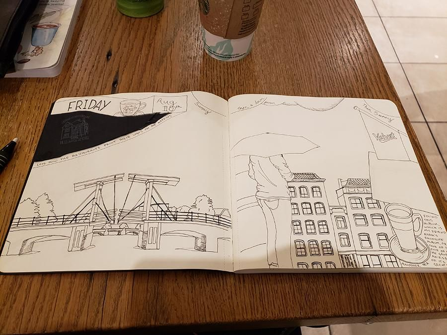 Draw Your Day - Amsterdam Trip & Some daily pages (updated) - image 1 - student project