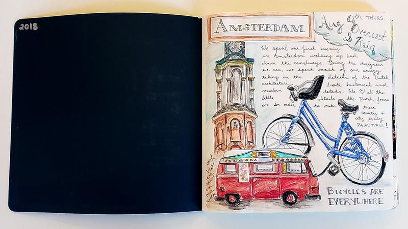 Draw Your Day - Amsterdam Trip & Some daily pages (updated) - image 4 - student project