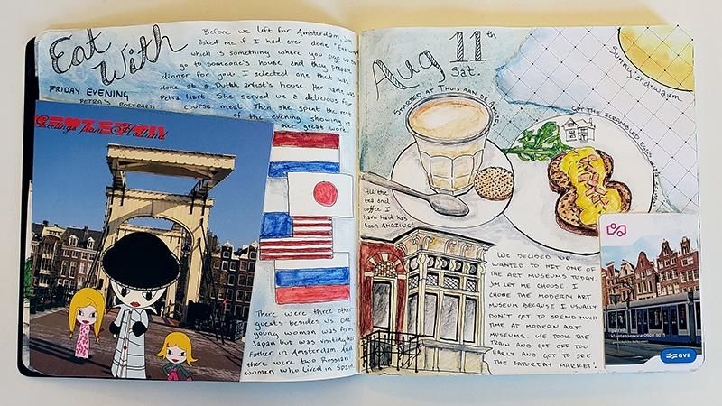 Draw Your Day - Amsterdam Trip & Some daily pages (updated) - image 6 - student project