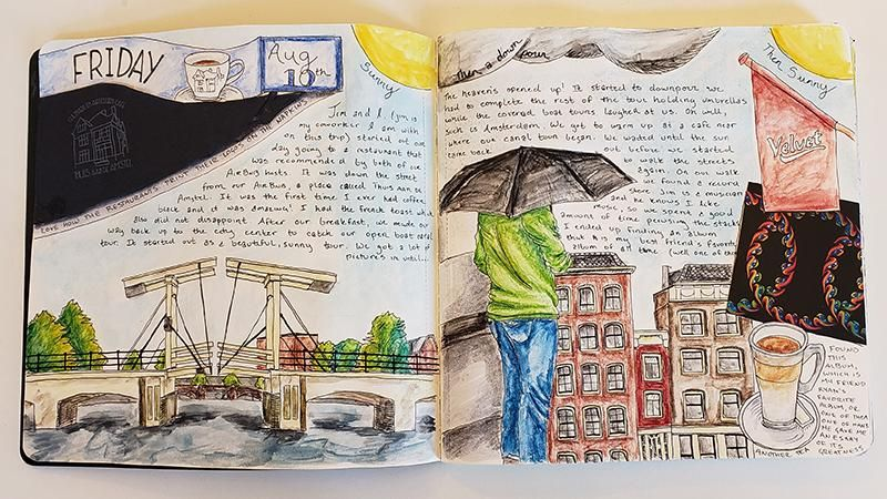 Draw Your Day - Amsterdam Trip & Some daily pages (updated) - image 5 - student project