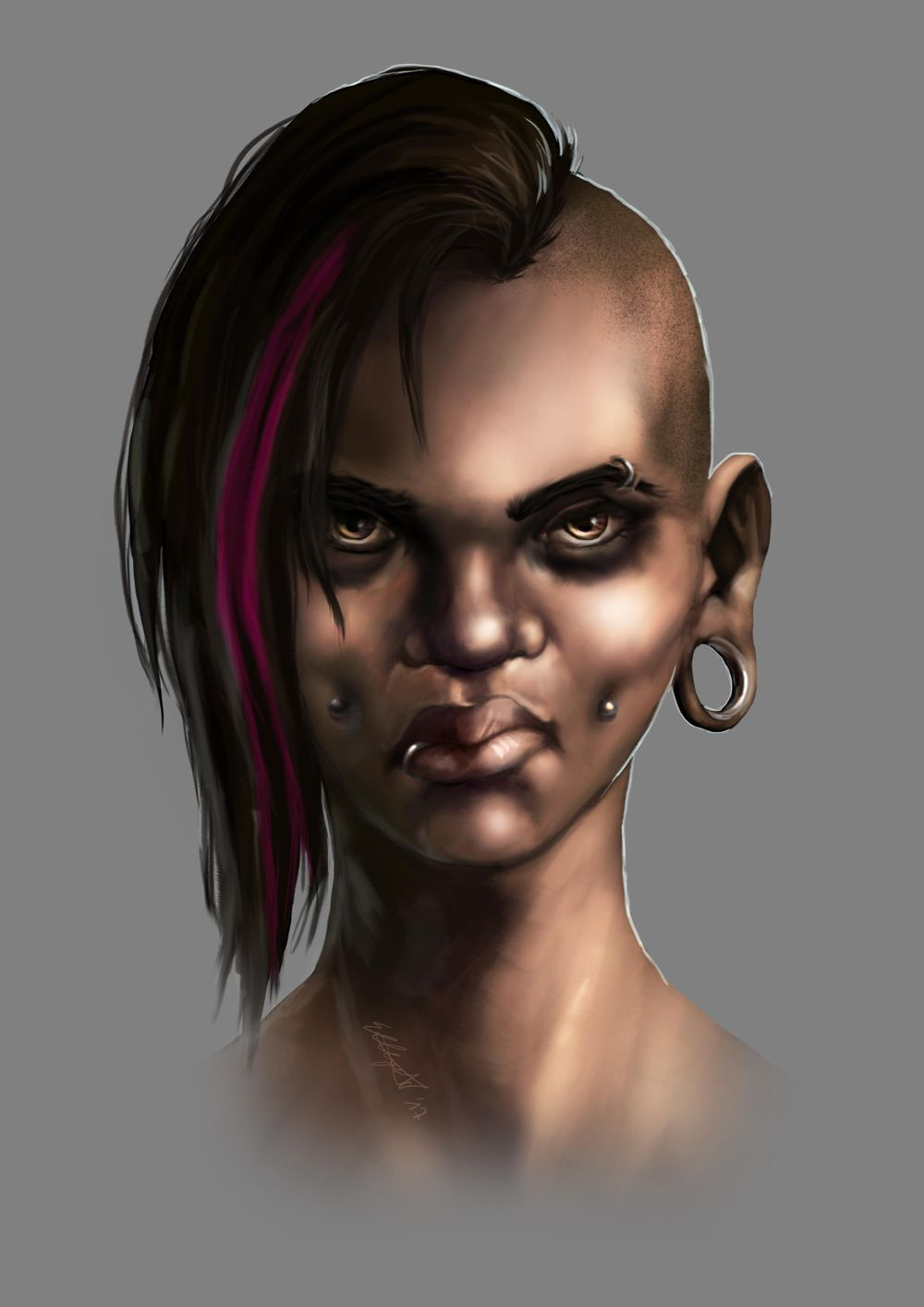 Head Study (Male, Female, Villain, Punk Girl, Buddy) - image 15 - student project