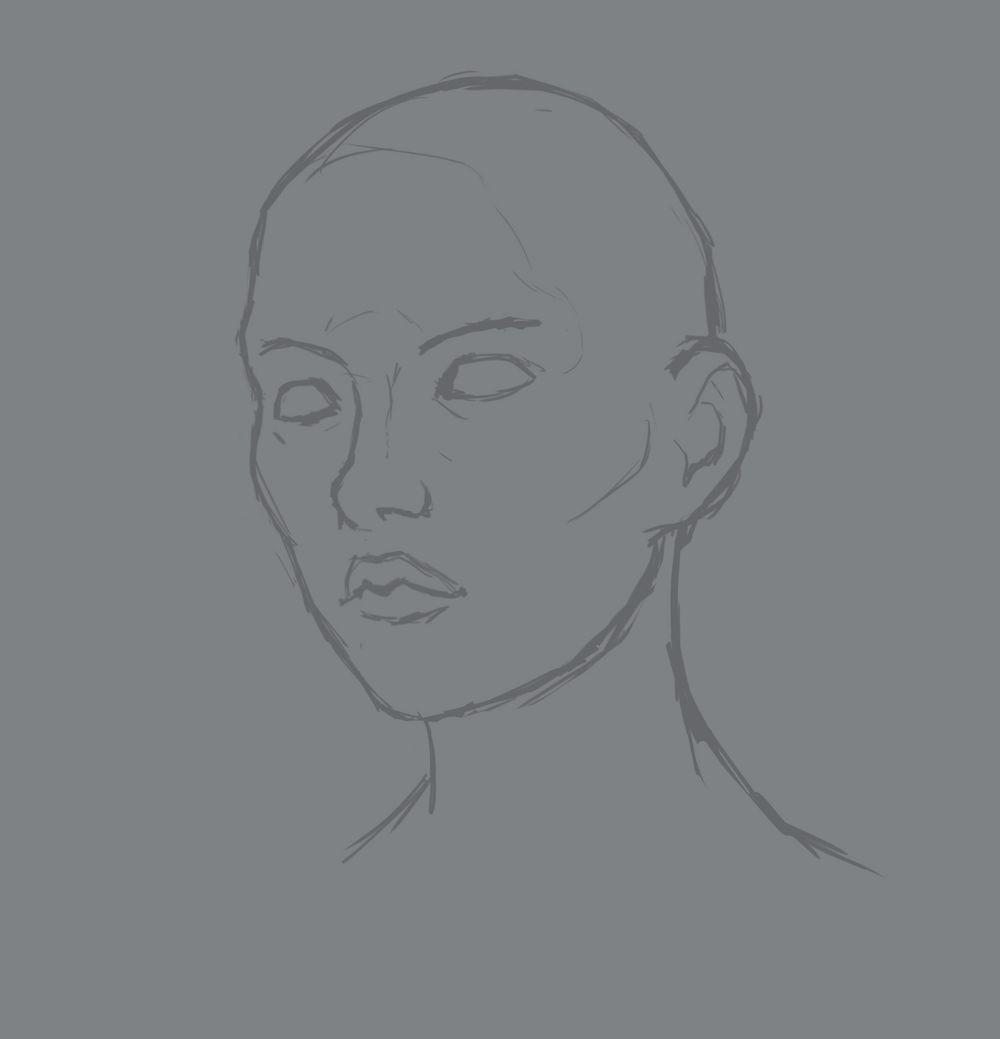 Head Study (Male, Female, Villain, Punk Girl, Buddy) - image 4 - student project