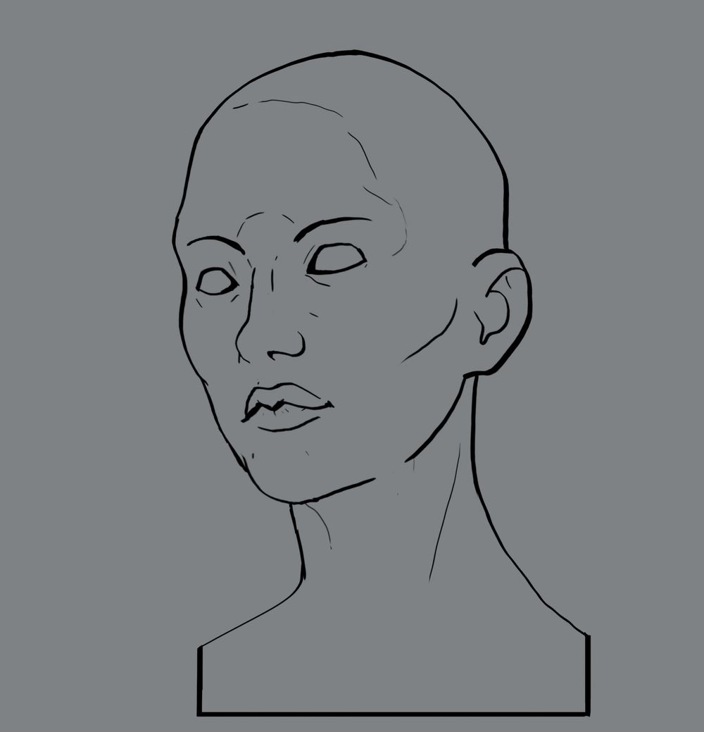 Head Study (Male, Female, Villain, Punk Girl, Buddy) - image 5 - student project