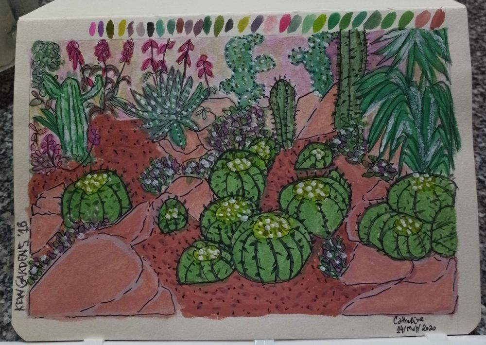 Remembering Kew Gardens with Gouache - image 1 - student project