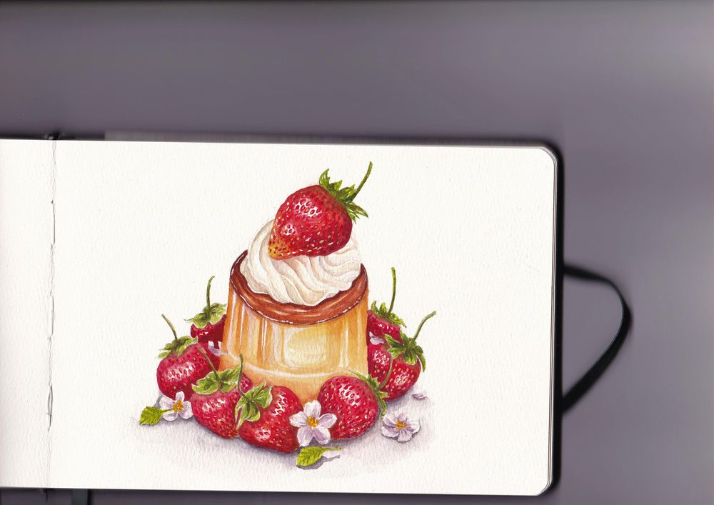 3rd strawberry dessert - image 1 - student project