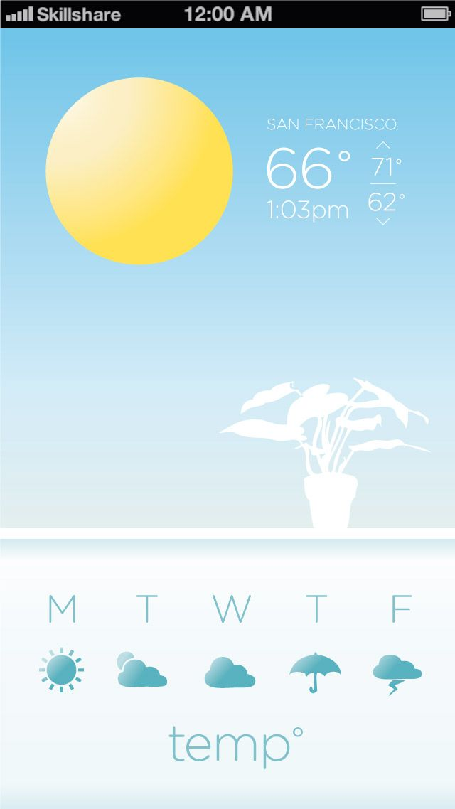 Weather App Concept - image 1 - student project