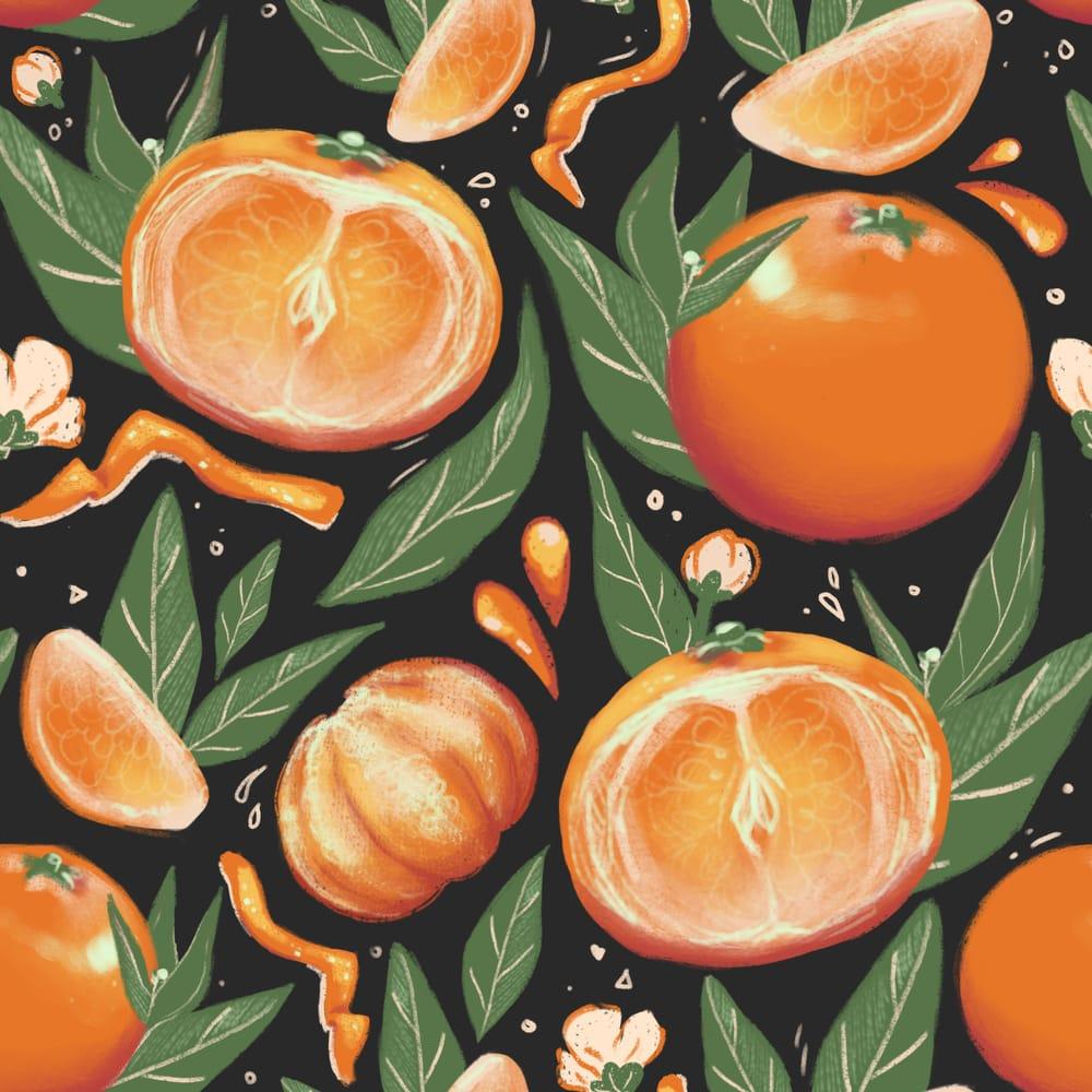 Juicy citrus pattern - image 1 - student project