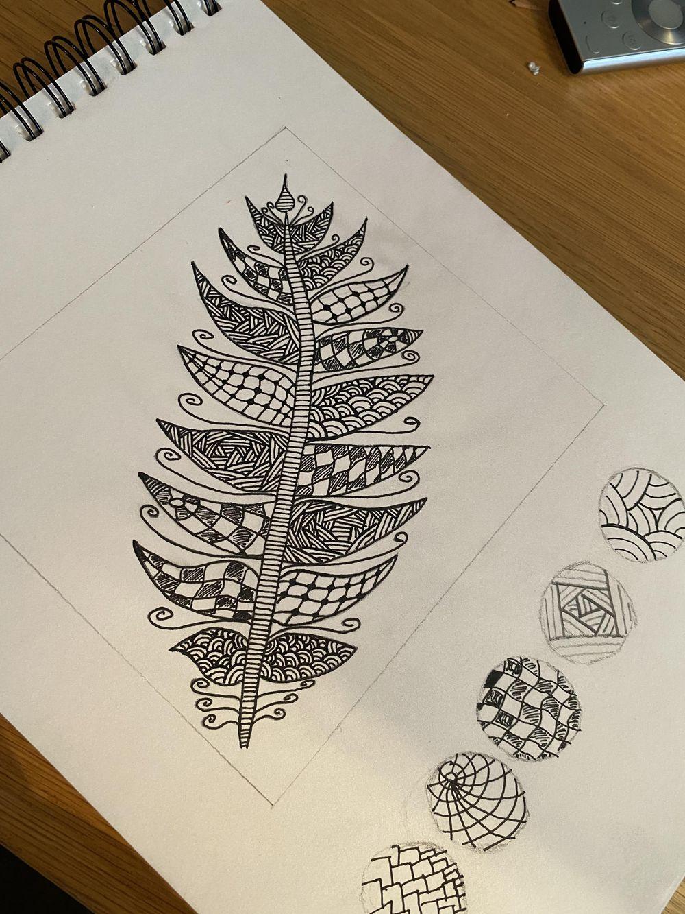 Zentangle Pinapple - image 3 - student project