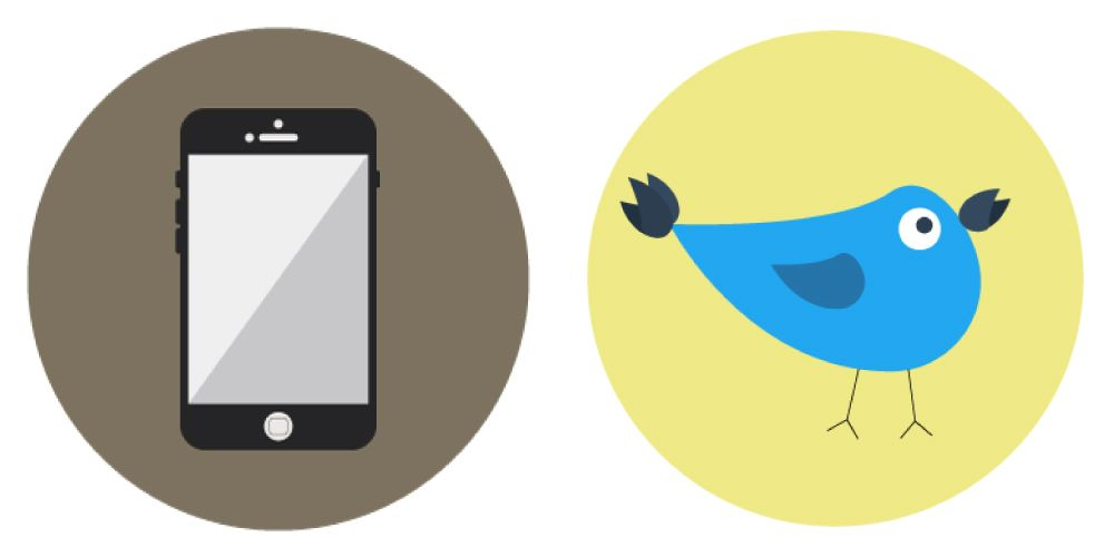 Bird and Phone Icons - image 1 - student project
