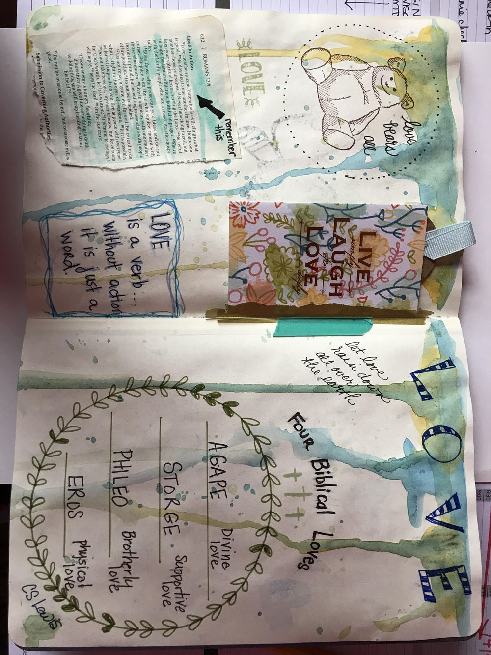 Watercolor journaling - image 2 - student project
