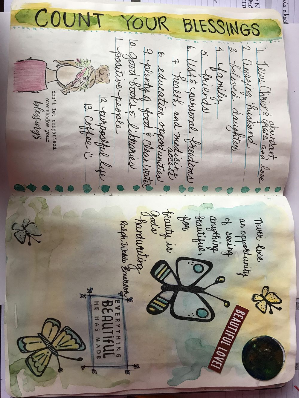 Watercolor journaling - image 1 - student project