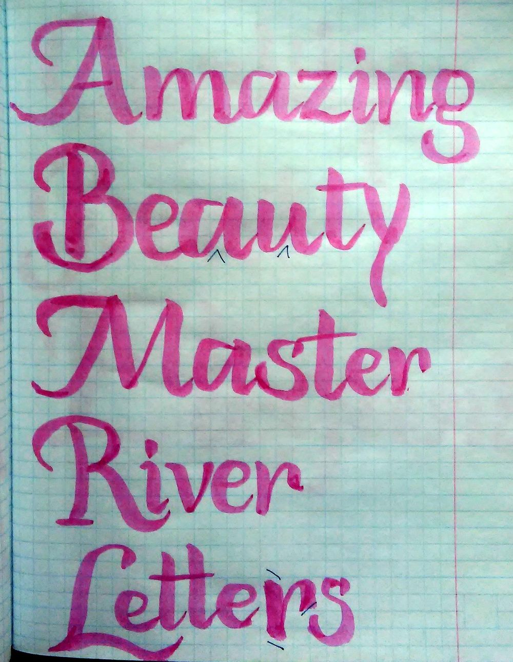 Watercolor brush writing - image 1 - student project