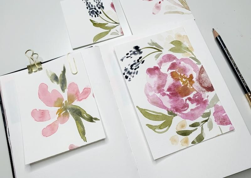 Watercolor Loose Florals - image 2 - student project