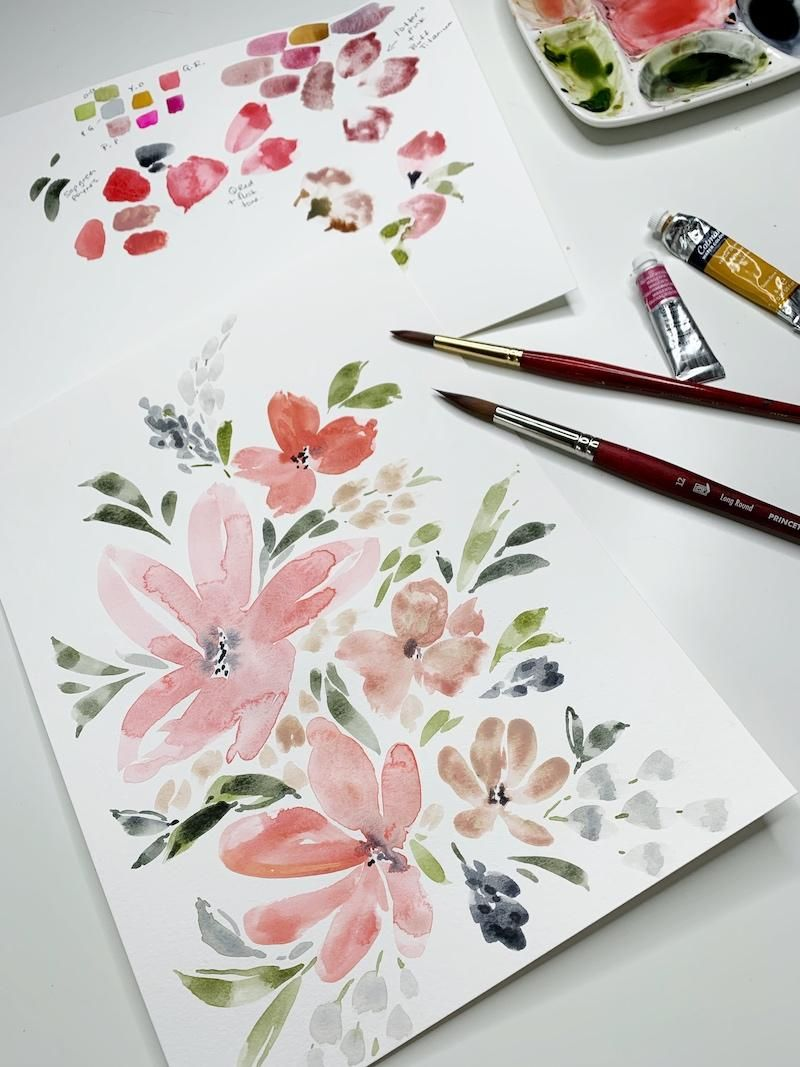 Watercolor Loose Florals - image 3 - student project