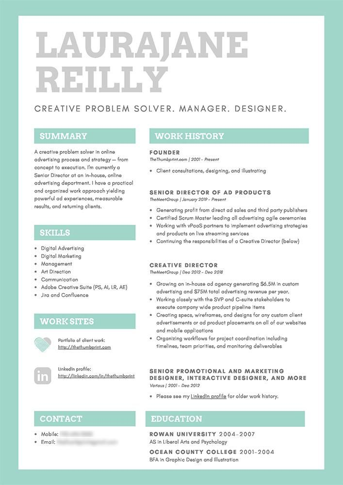 TheThumbprint: Resume Update - image 1 - student project
