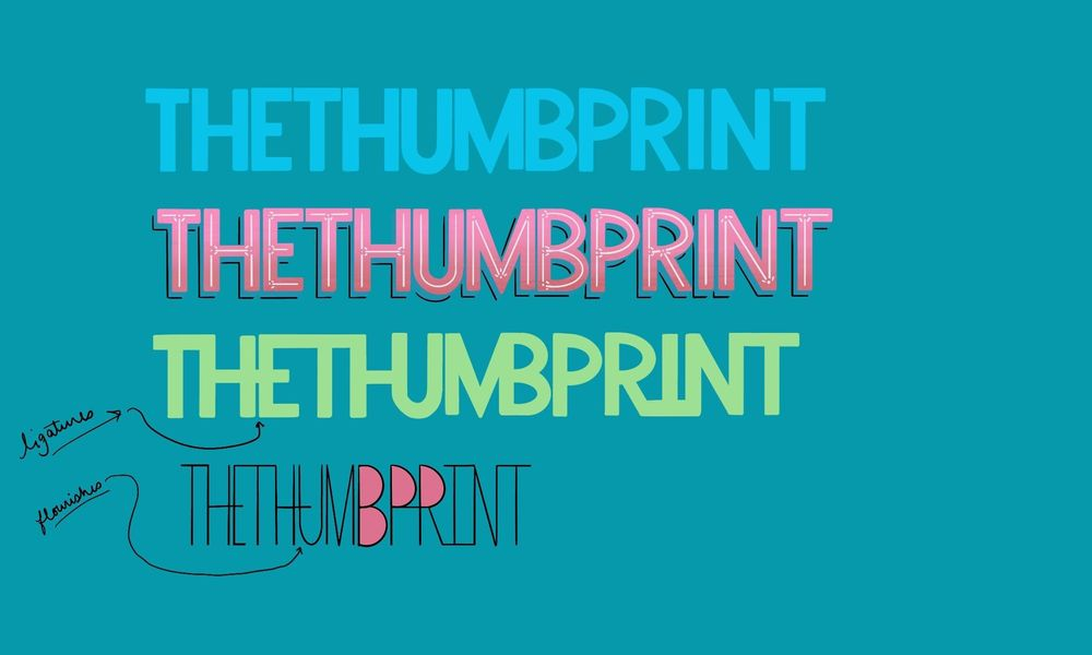 TheThumbprint Lettering - image 2 - student project