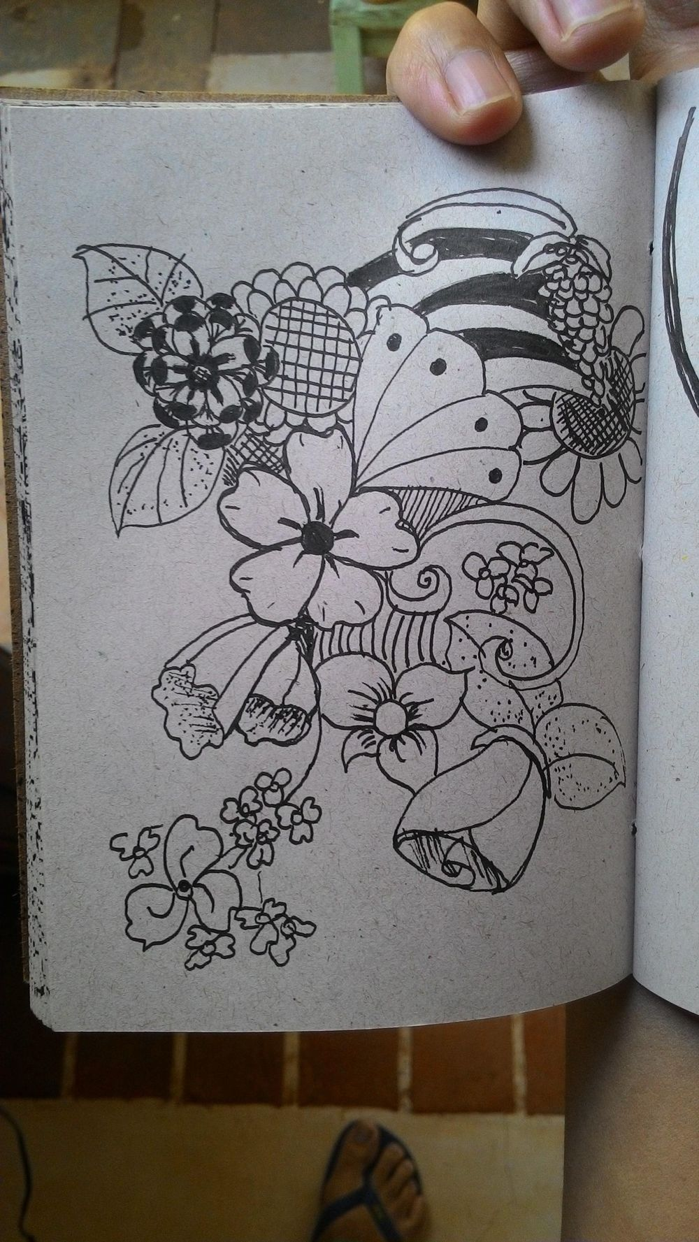 Some lovely flower doodles - image 3 - student project