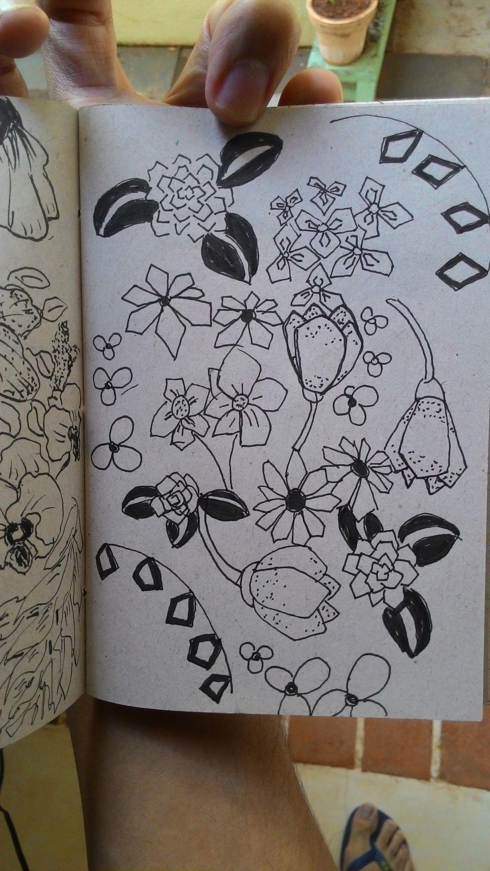 Some lovely flower doodles - image 2 - student project