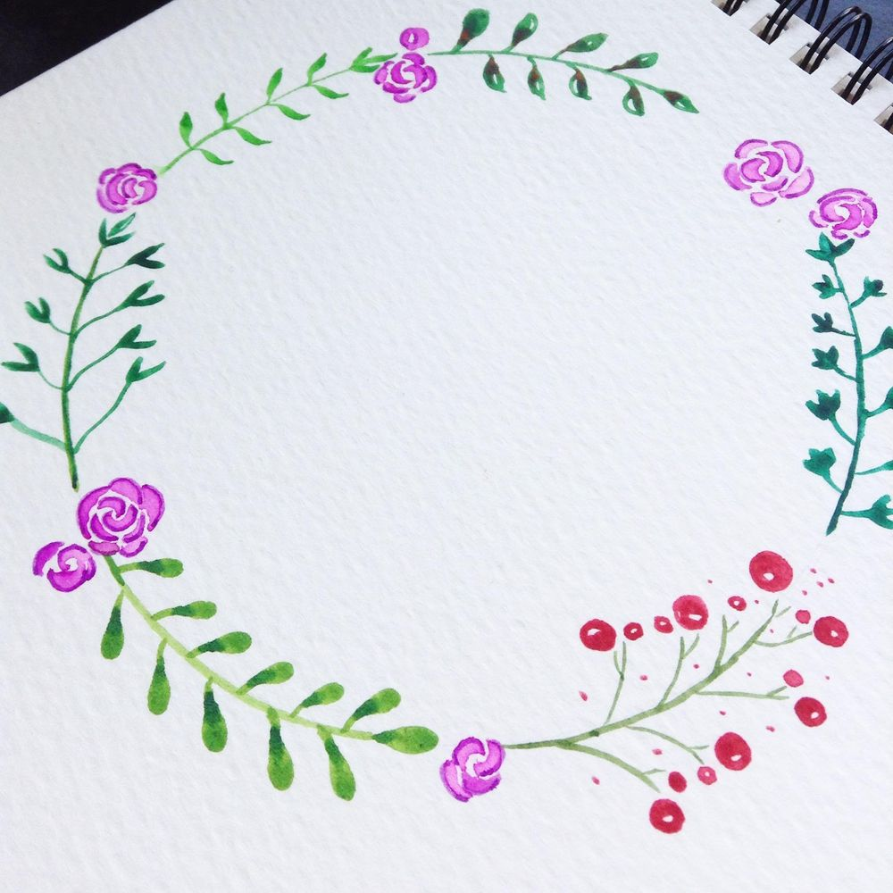 Floral wreath with cat - image 4 - student project