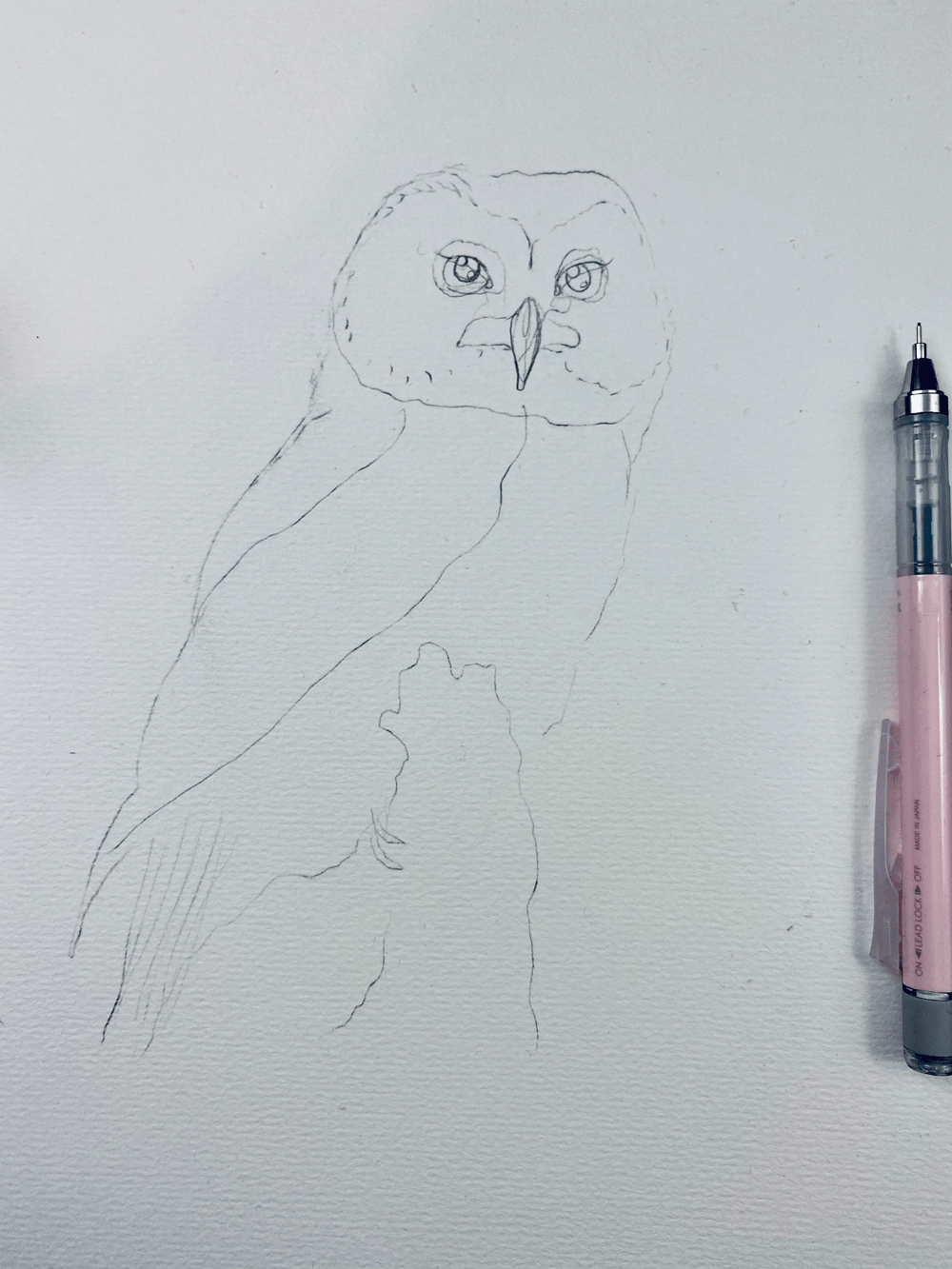 My OwlPainting in INK - image 2 - student project