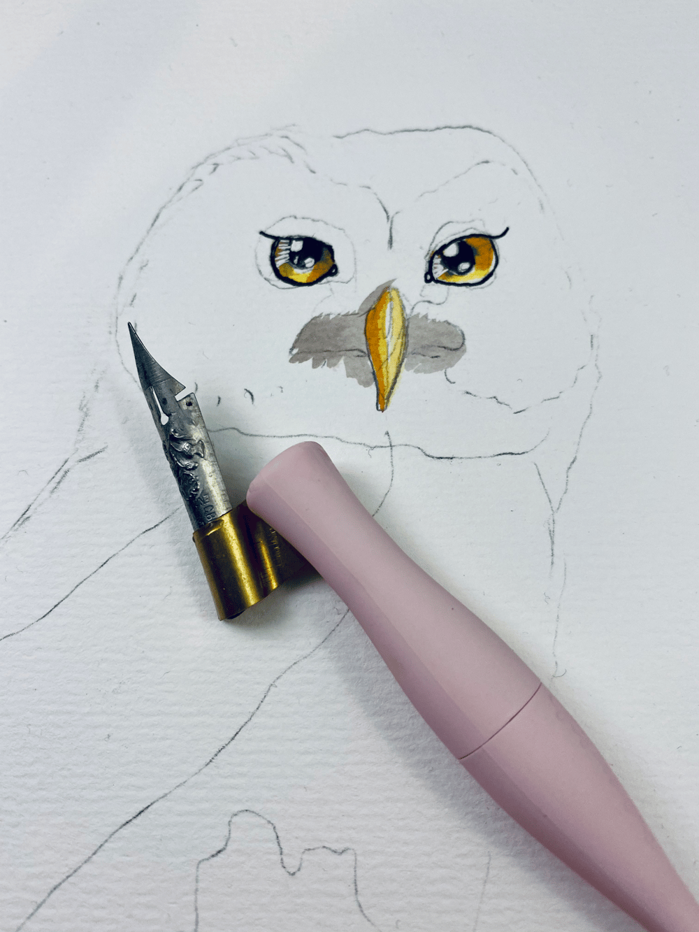 My OwlPainting in INK - image 7 - student project