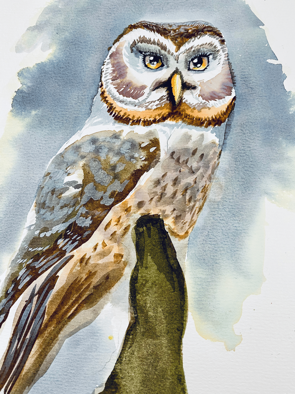 My OwlPainting in INK - image 1 - student project
