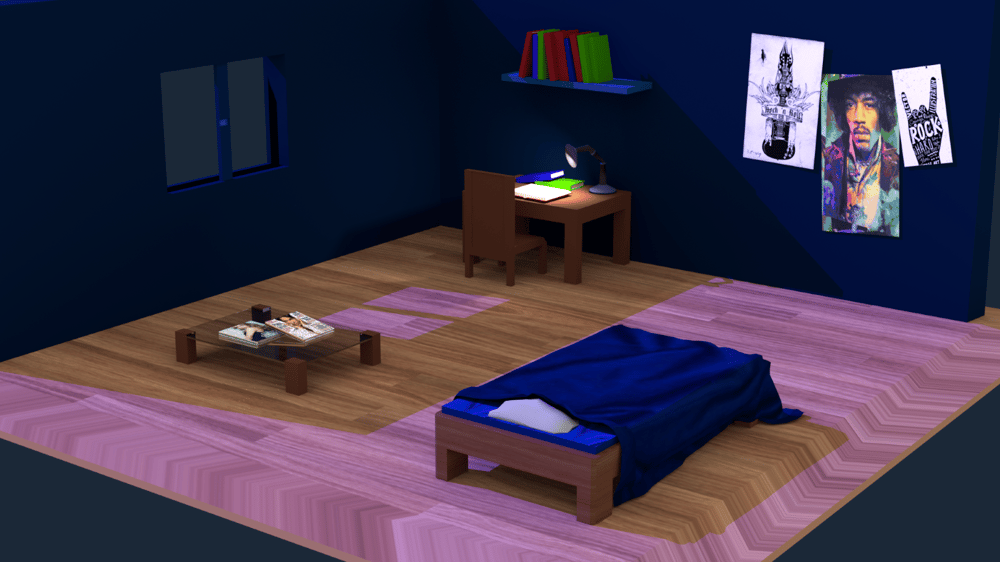 Low Poly Room - image 1 - student project