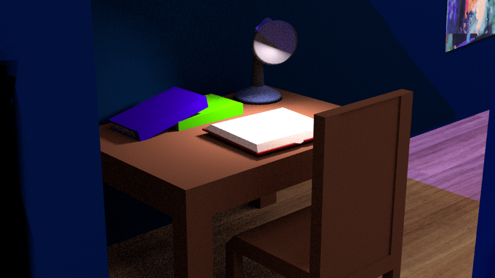 Low Poly Room - image 4 - student project