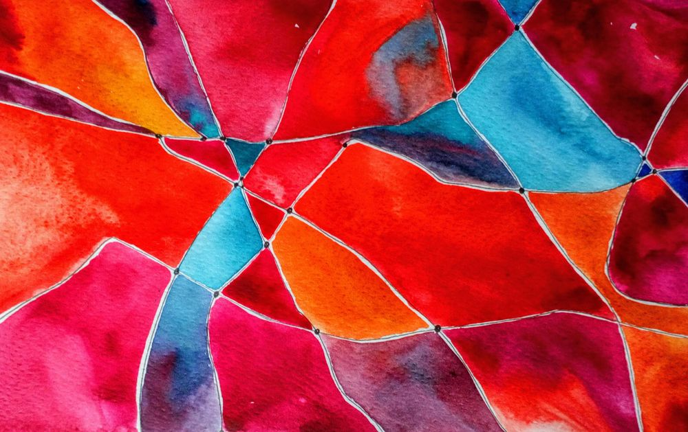 Doodle Art Meets Watercolor: Paint an Abstract Net Design - image 1 - student project
