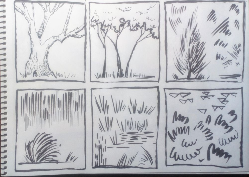 Greenery in Urban Sketching - image 4 - student project