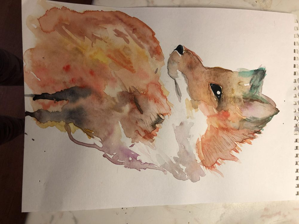 spontaneous watercolor - image 2 - student project