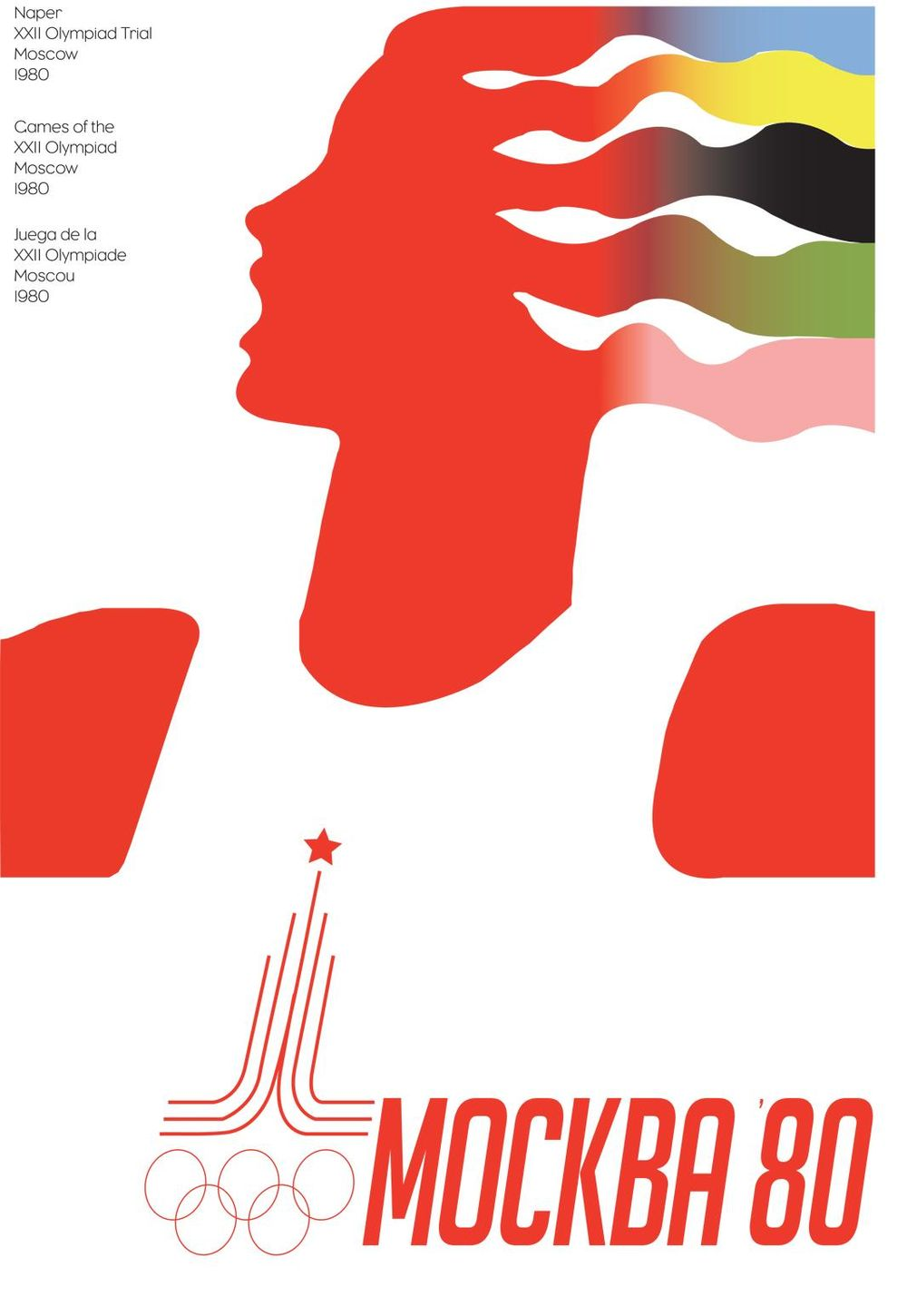 1980 Olympics poster from Moscow - image 1 - student project
