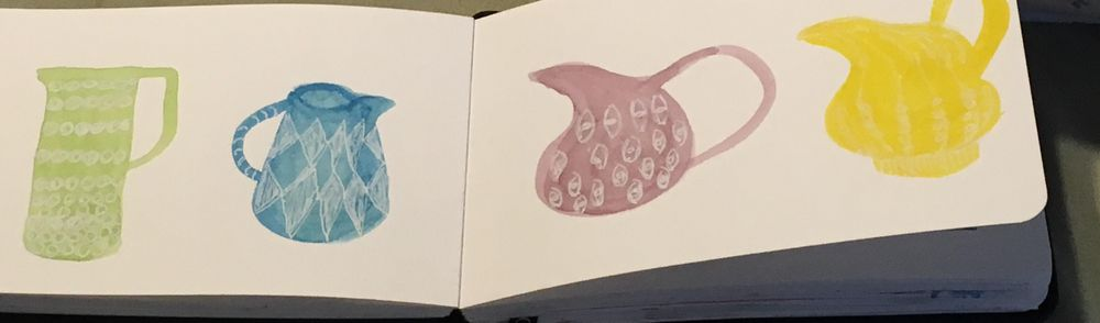 Everyday objects pop with watercolor and pen - image 1 - student project