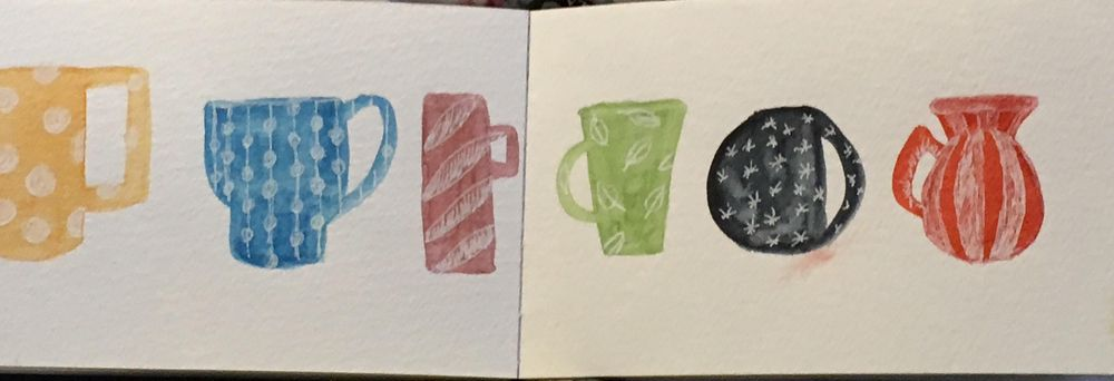 Everyday objects pop with watercolor and pen - image 2 - student project