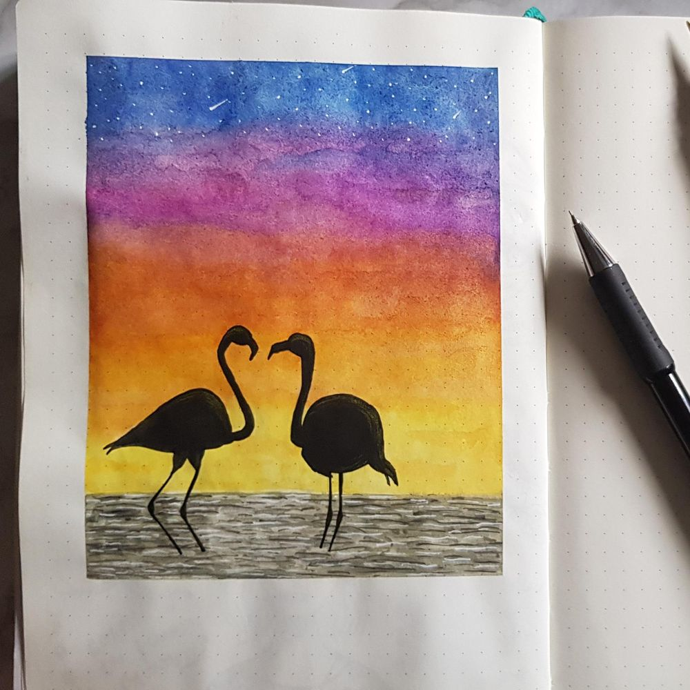 Watercolour Sunset - image 1 - student project