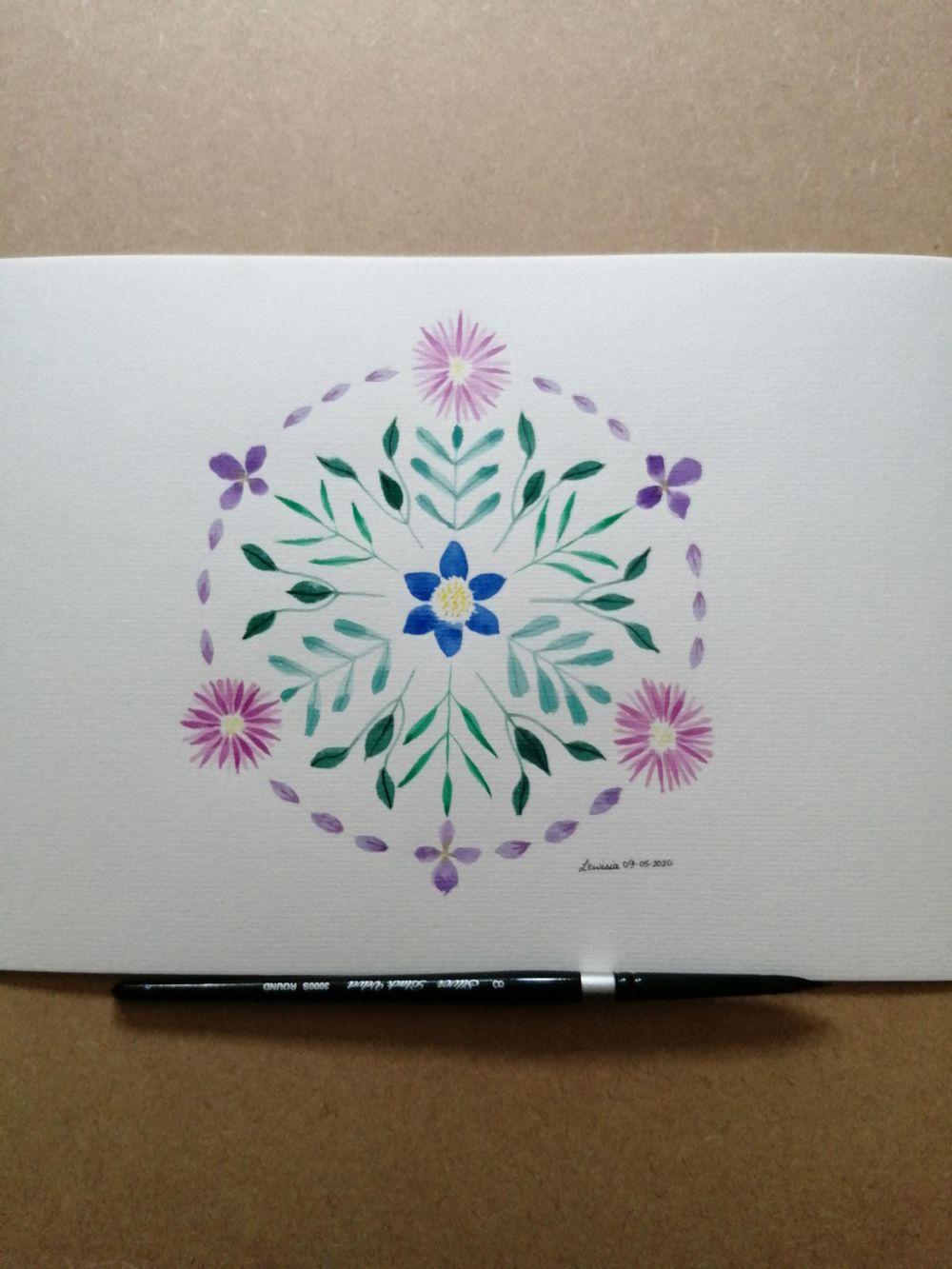 Flower mandala - image 1 - student project