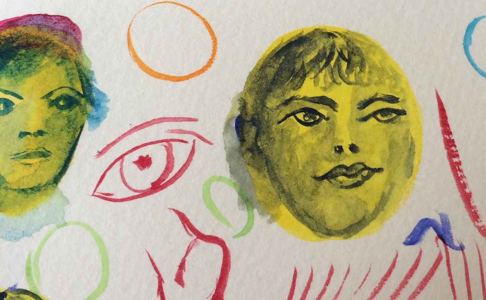 Kimbi's faces - image 2 - student project