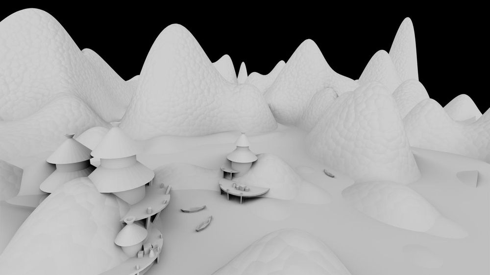 The Huts - blender draft - image 3 - student project