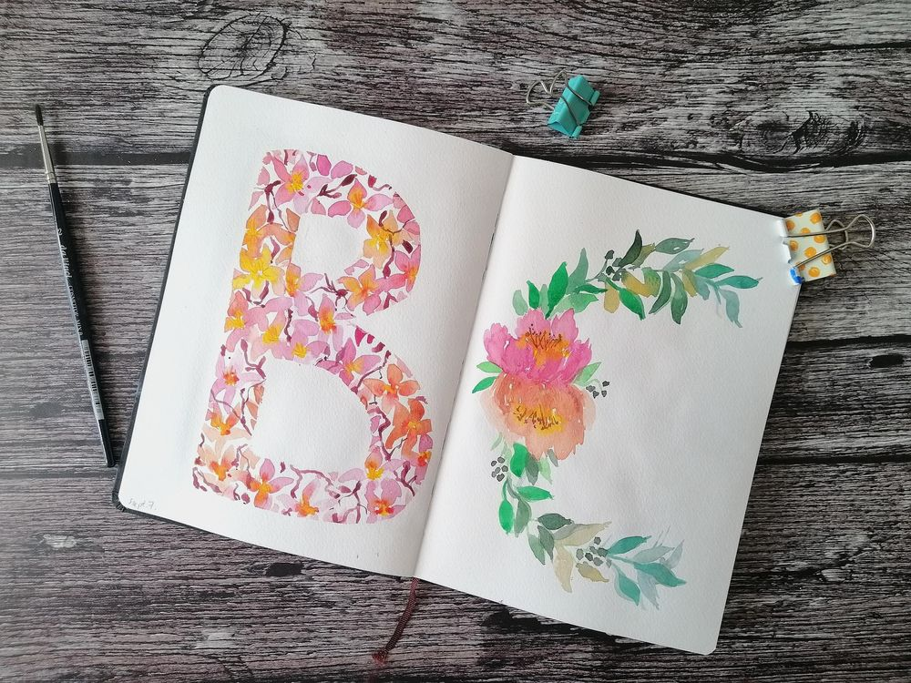 Floral letters - image 1 - student project