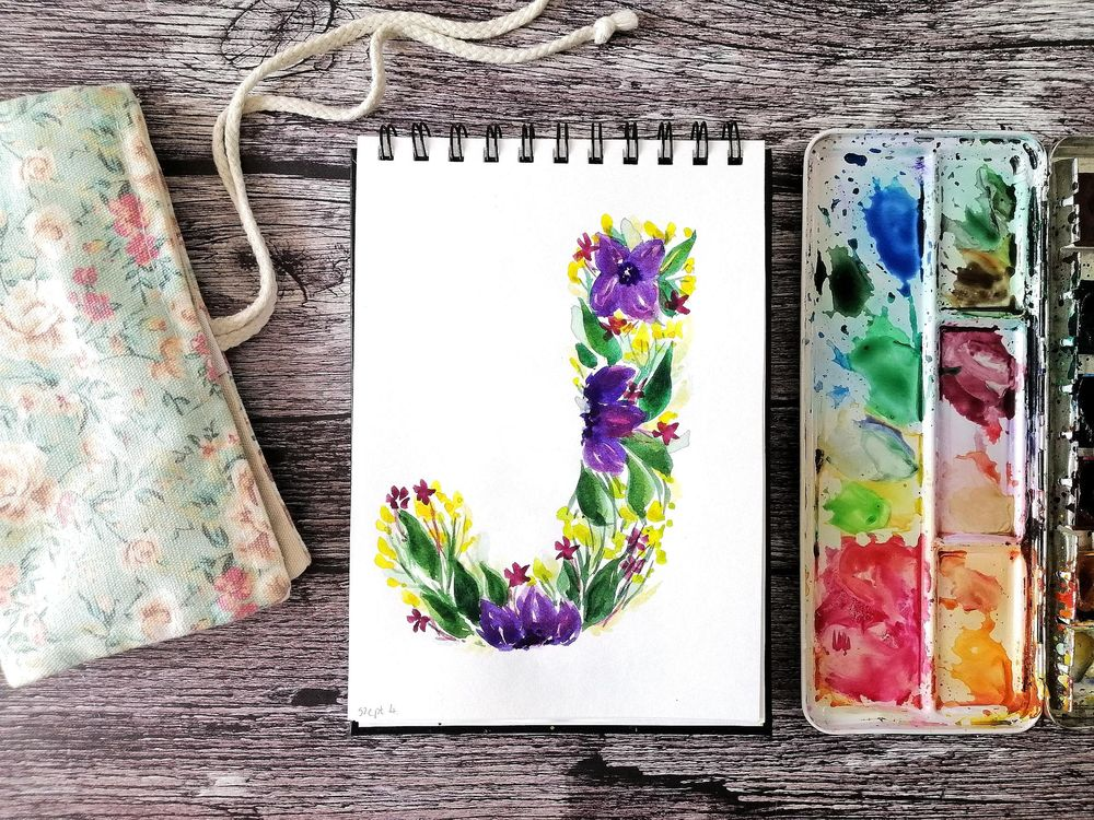 Floral letters - image 2 - student project