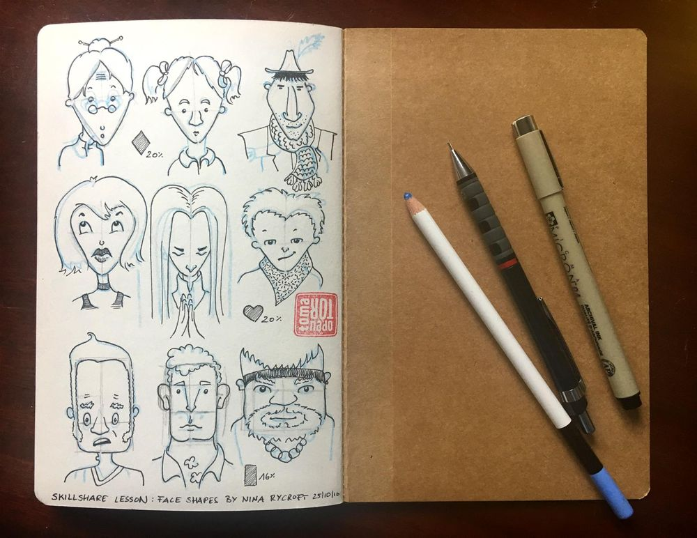 Face Shapes Studies - image 1 - student project