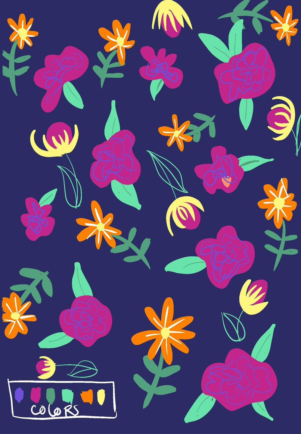 My folk flowers (work in progress) - image 4 - student project