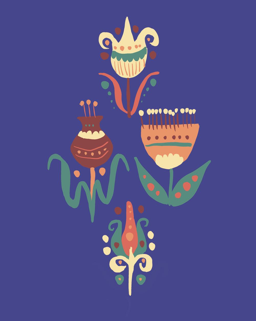 My folk flowers (work in progress) - image 1 - student project