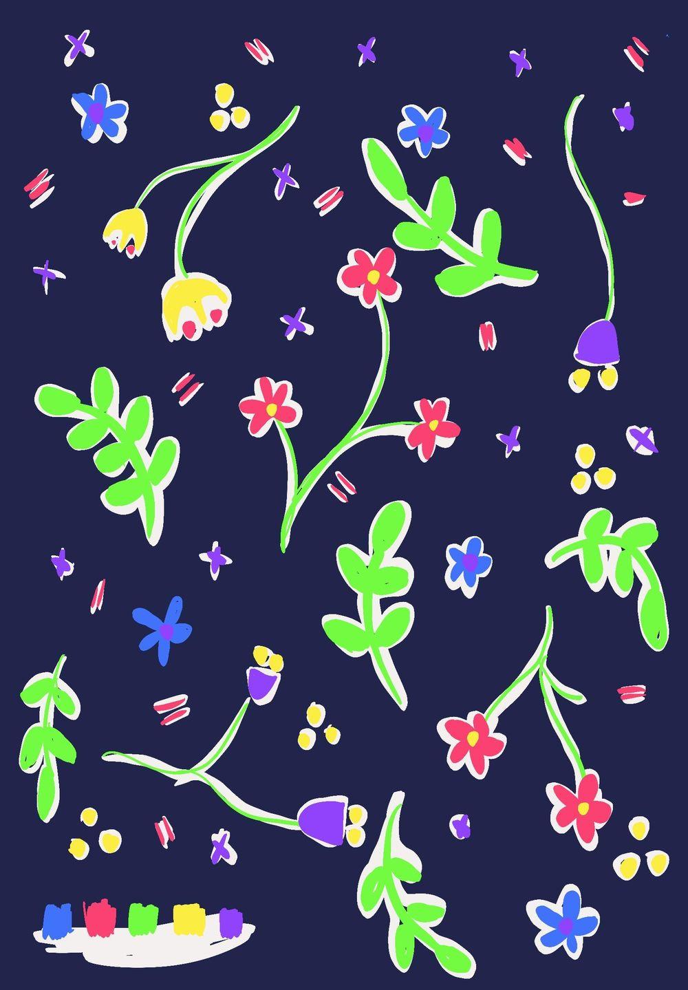 My folk flowers (work in progress) - image 3 - student project