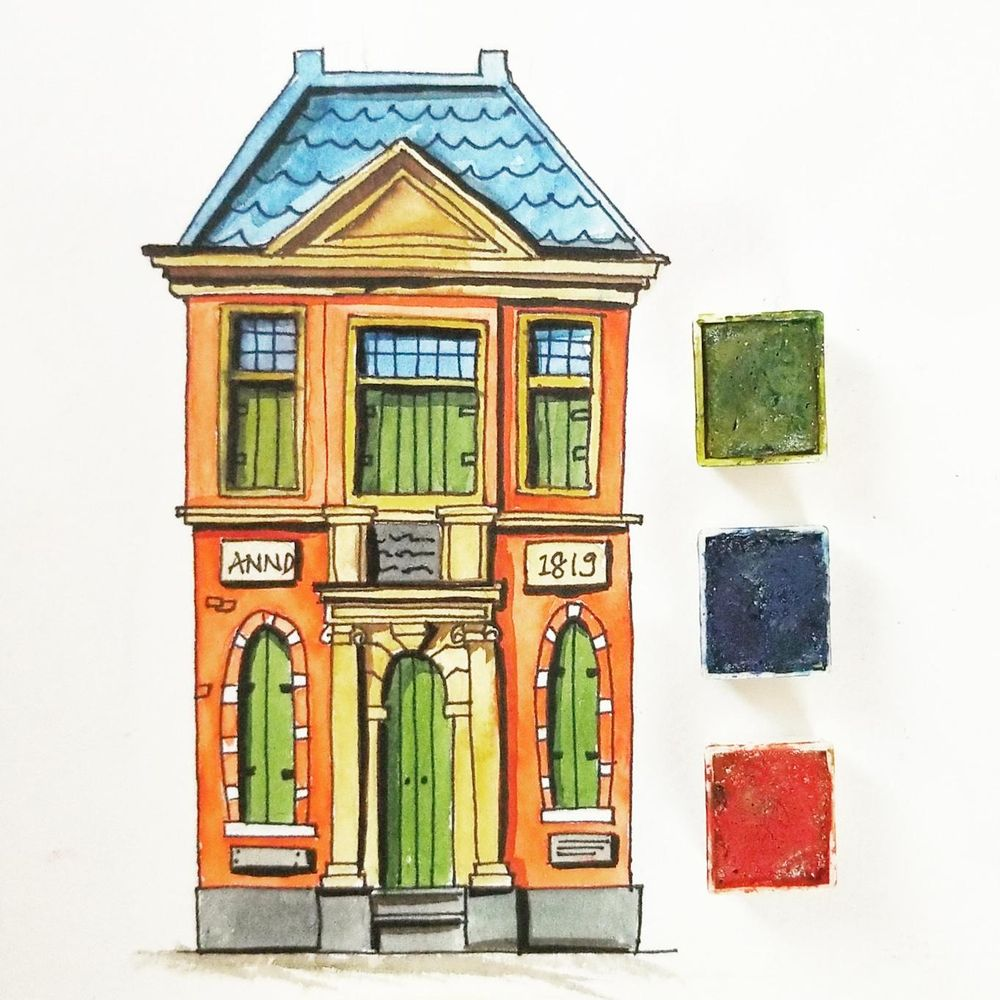 Colorfull houses - image 1 - student project