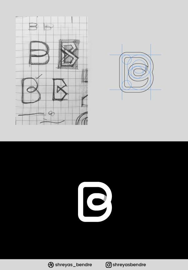 B Letter Mark ( Grid and the Final Product) - image 1 - student project