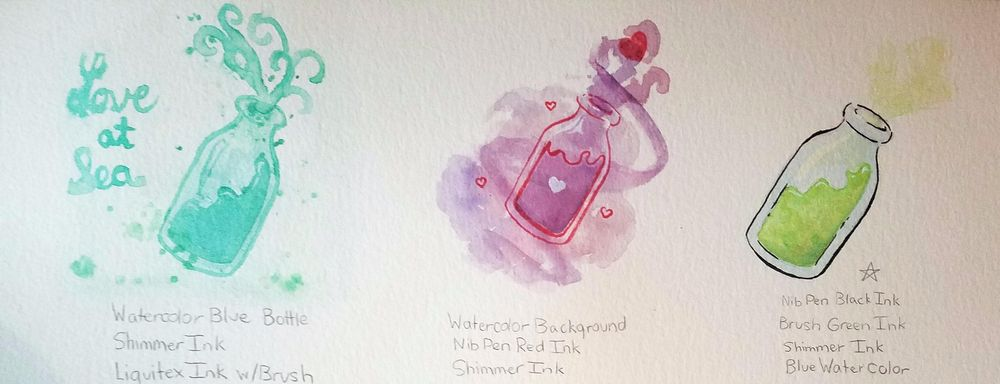 Ink and Watercolor Project - image 2 - student project