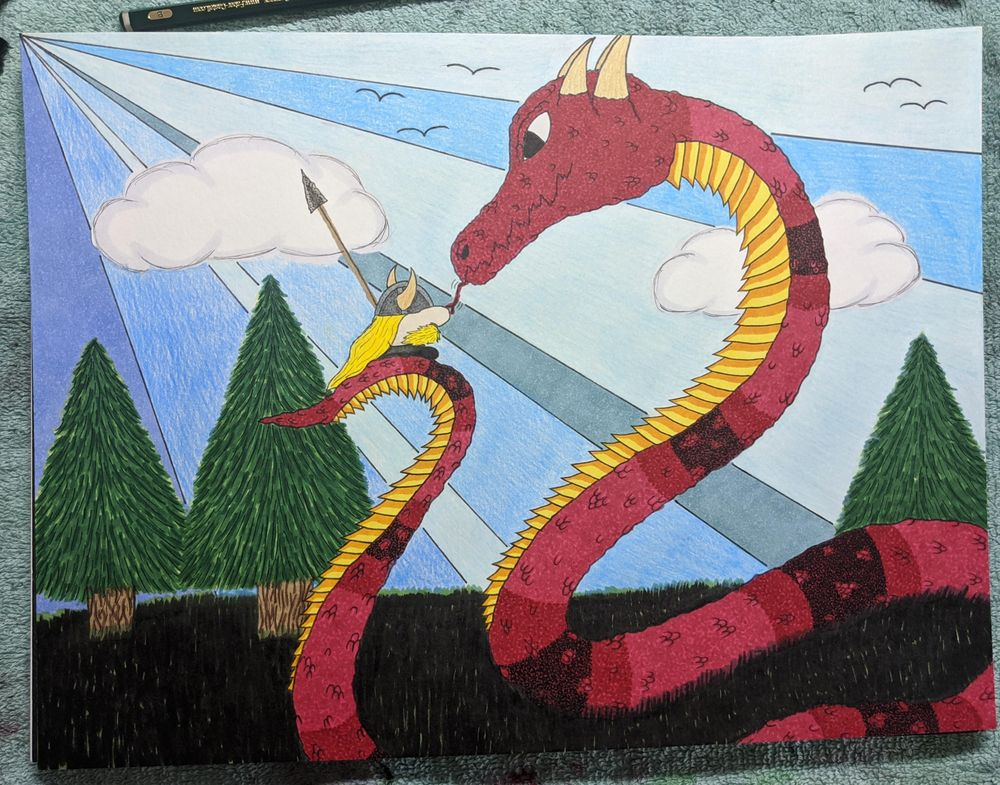 Tiny Viking vs. the Midgard Serpent - image 1 - student project
