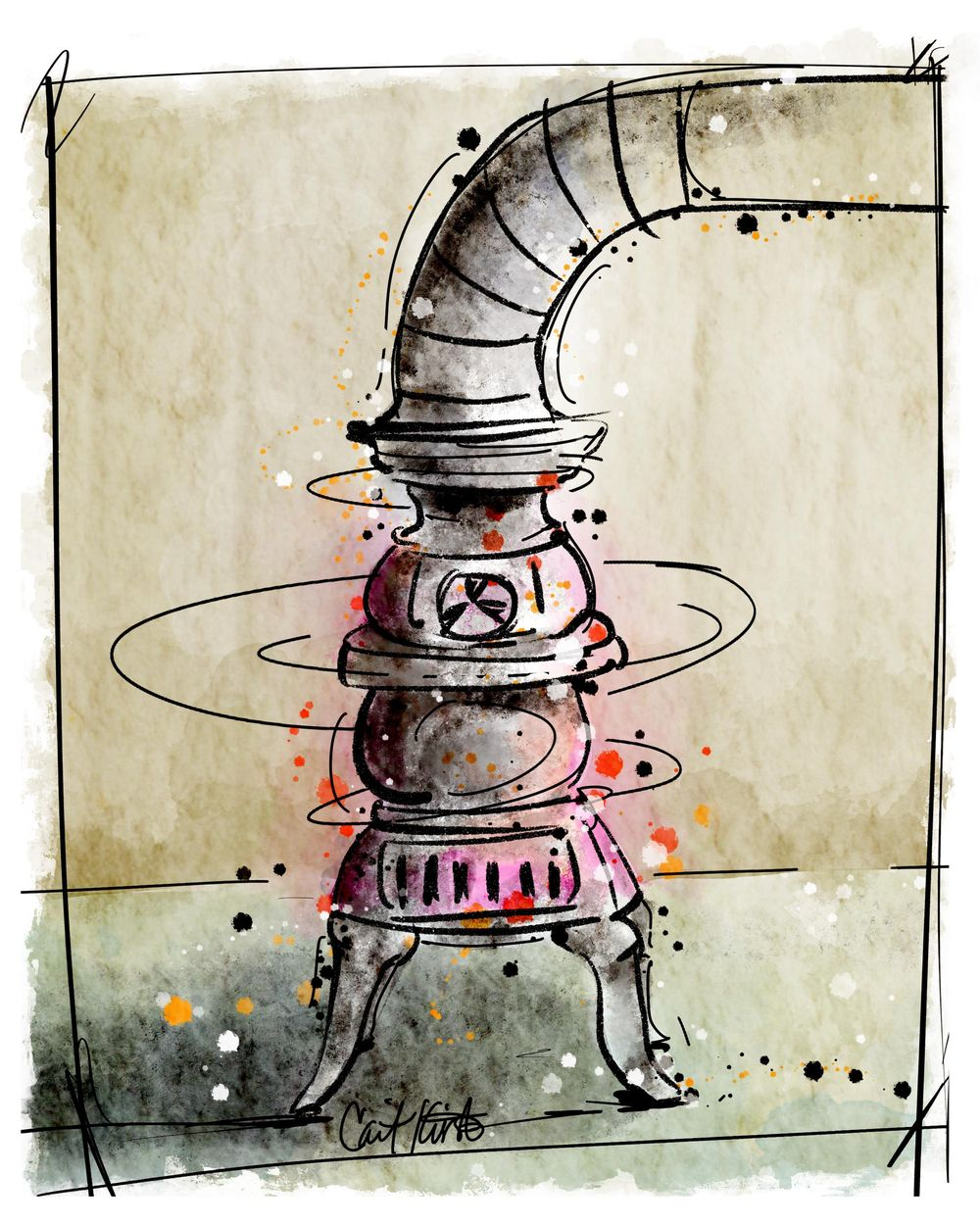 Such a fun class - my Potbelly Stove - image 1 - student project