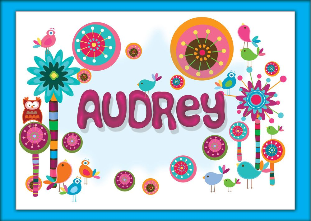 Birthday Card For Audrey: Play-Doh Technique For Name and Background - image 1 - student project